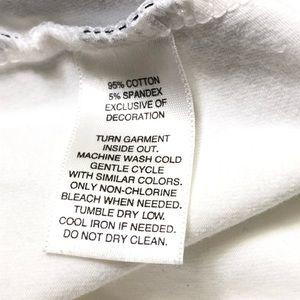 White House Black Market Tops - WHBM Size Large Diagonal Striped Floral Tee Shirt